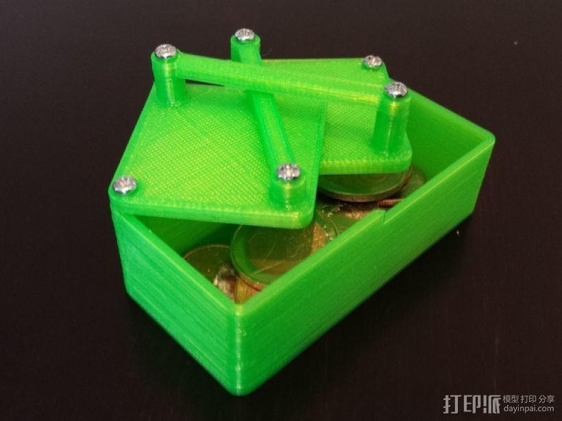 带有旋转盖的硬币盒 3D模型  图1