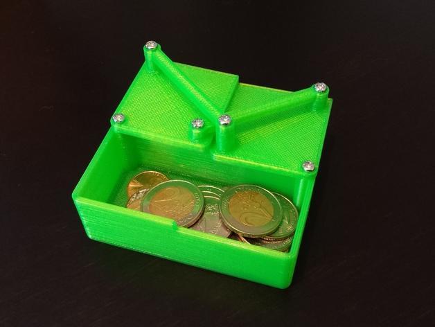 带有旋转盖的硬币盒 3D模型  图2