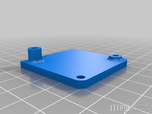带有旋转盖的硬币盒 3D模型  图5
