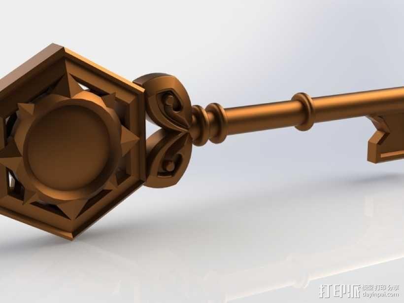 炉石传说:竞技场钥匙 3D模型  图1