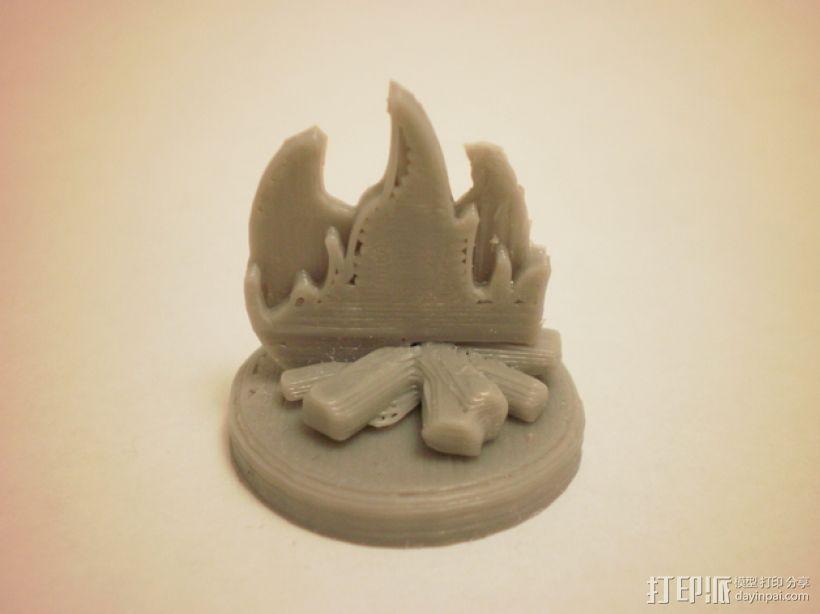 FlatMinis:篝火 3D模型  图1