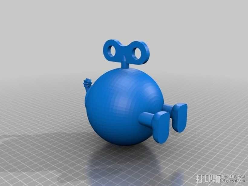 超级玛丽:Bob-omb炸弹 3D模型  图2