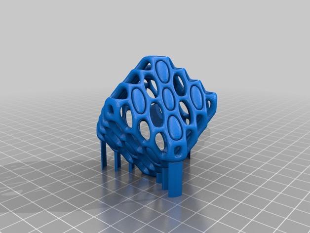 镂空的六面骰子 3D模型  图3
