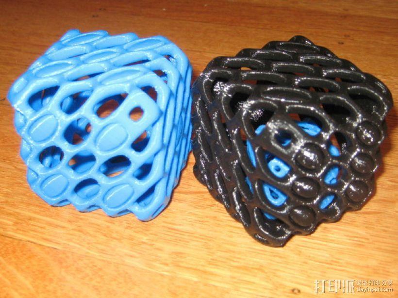 镂空的六面骰子 3D模型  图1