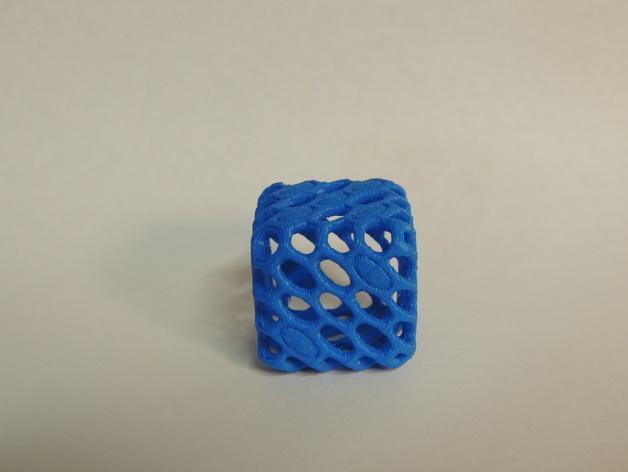 镂空的六面骰子 3D模型  图4