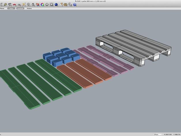 3D打印木质托盘模型 3D模型  图11
