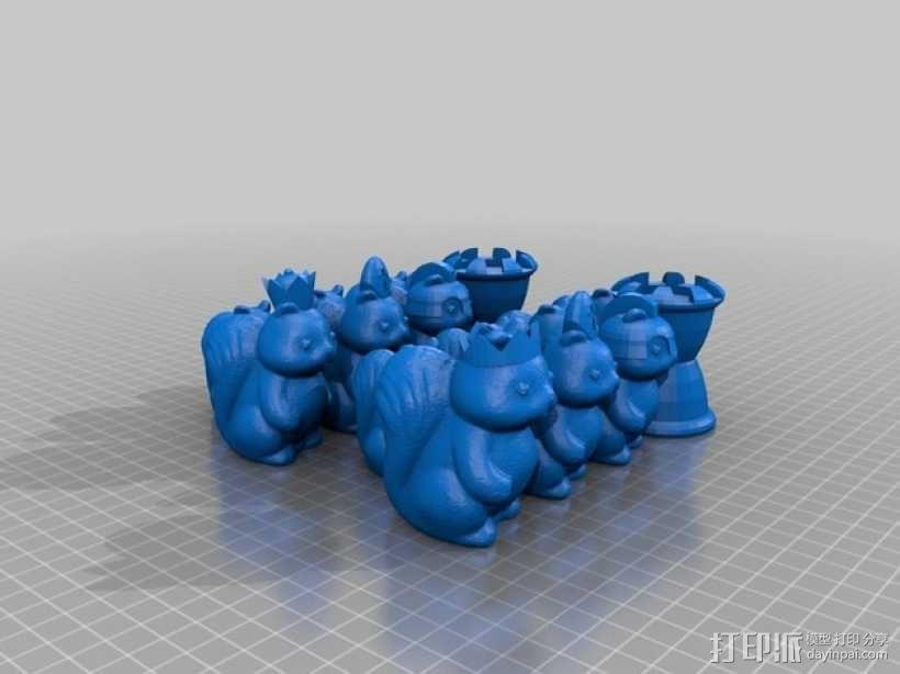 松鼠象棋 3D模型  图2