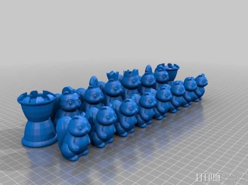 松鼠象棋 3D模型  图3