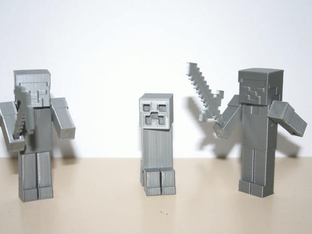 Minecraft:爬行者 3D模型  图1