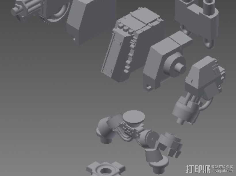 无畏战舰机器人 3D模型  图2
