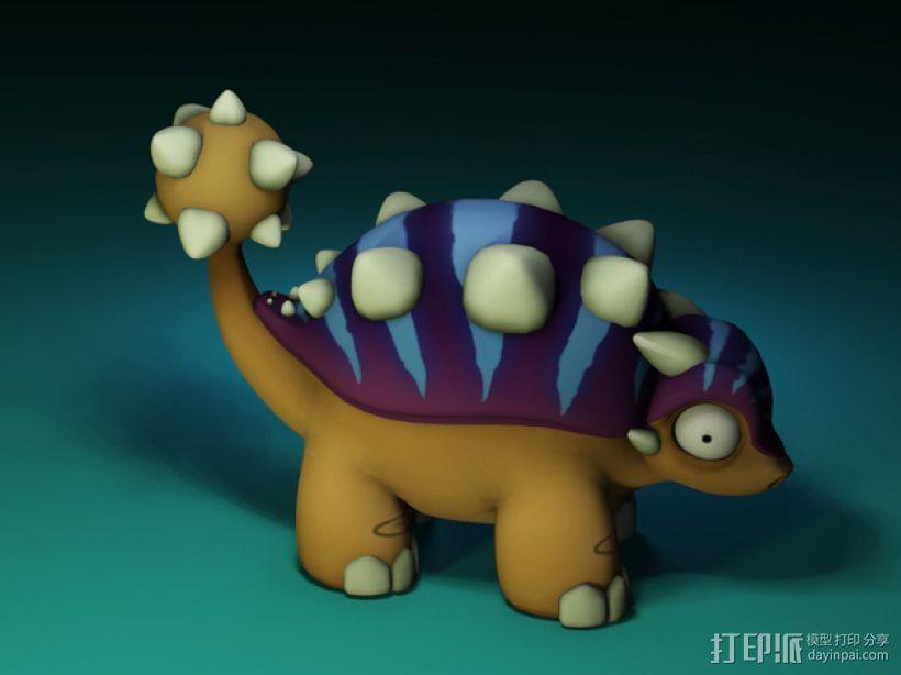 迷你包头龙模型 3D模型  图2