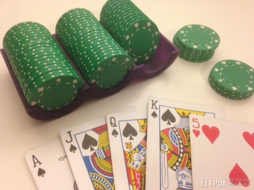 可定制化的扑克牌游戏筹码 3D模型  图1