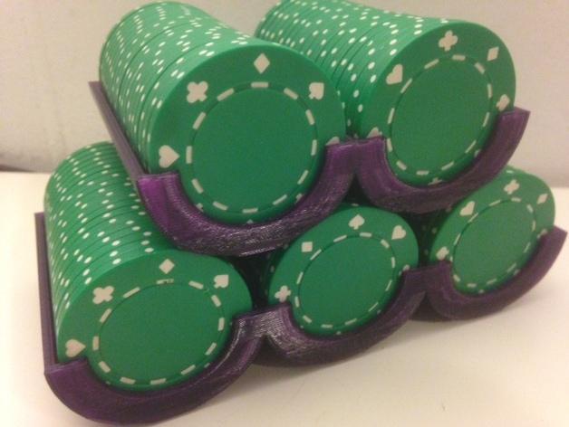 可定制化的扑克牌游戏筹码 3D模型  图2