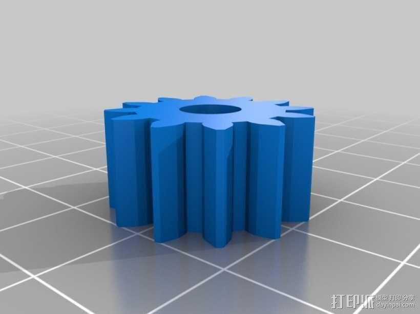 球形的行星齿轮模型 3D模型  图5