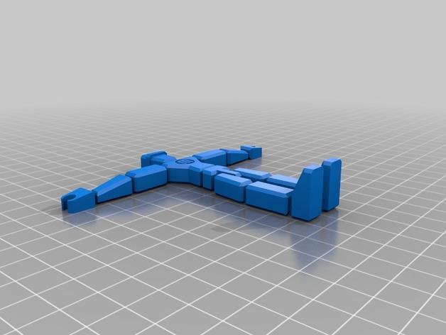 会滑雪的MakerBot机器人 3D模型  图2
