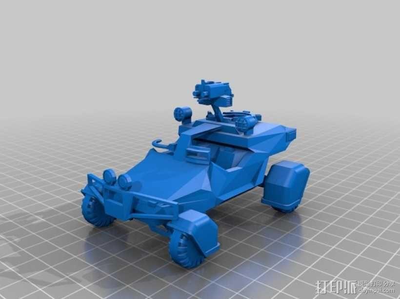 星际空间:Jarhead坦克车 3D模型  图1