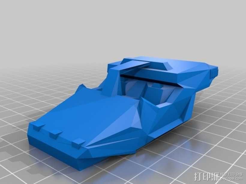 星际空间:Jarhead坦克车 3D模型  图2