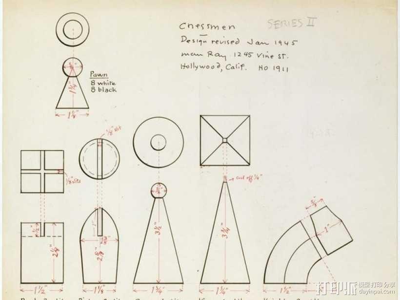 个性化象棋套件 3D模型  图2