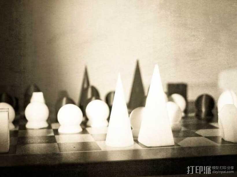 个性化象棋套件 3D模型  图1