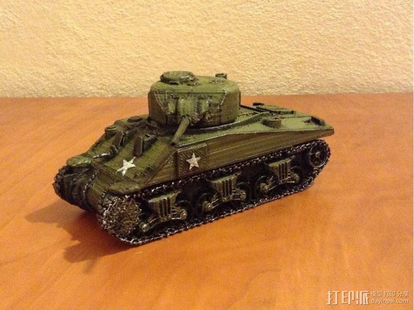 谢尔曼坦克 3D模型  图1