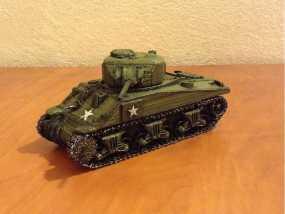 谢尔曼坦克 3D模型