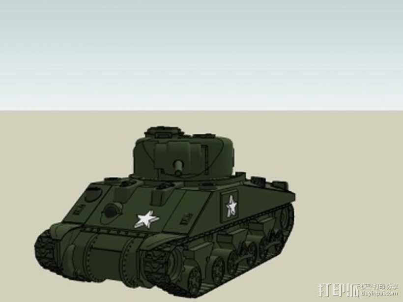 谢尔曼坦克 3D模型  图2