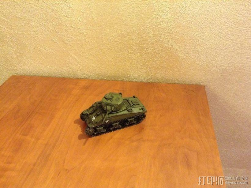 谢尔曼坦克 3D模型  图3