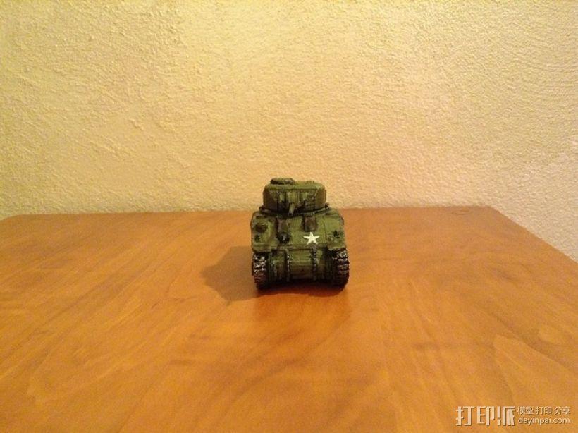 谢尔曼坦克 3D模型  图5