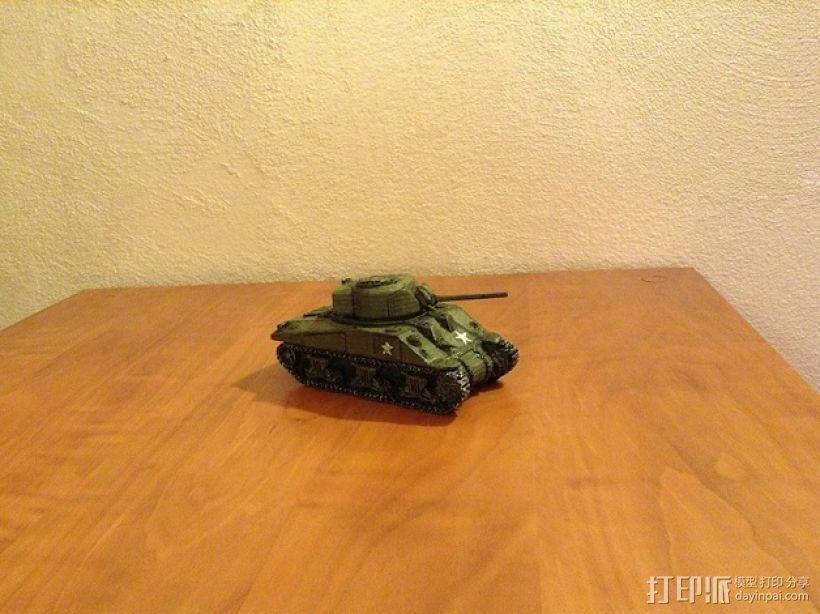 谢尔曼坦克 3D模型  图4