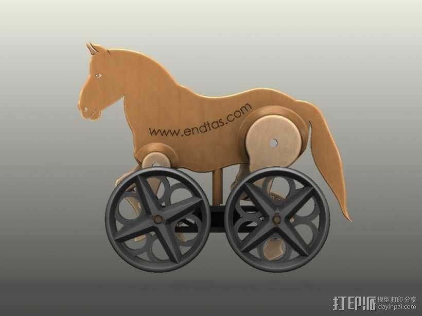 玩具马模型 3D模型  图2