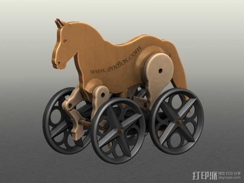 玩具马模型 3D模型  图1