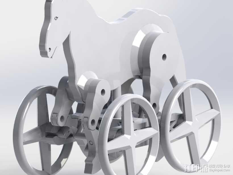 玩具马模型 3D模型  图4