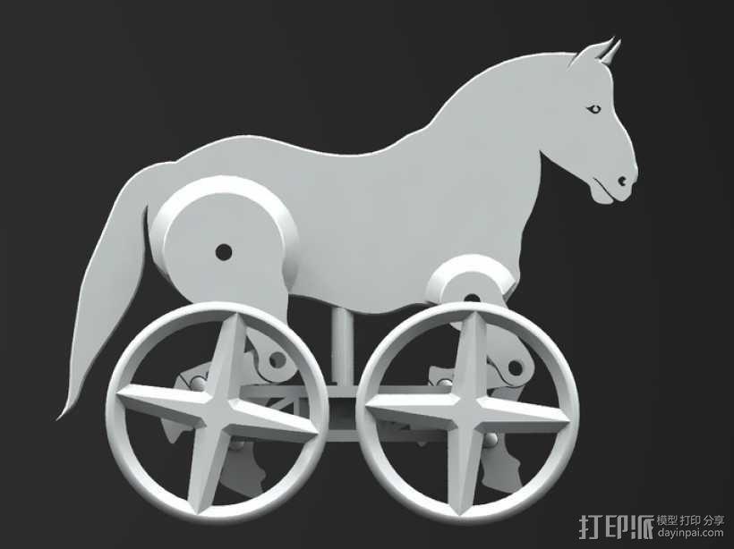 玩具马模型 3D模型  图7