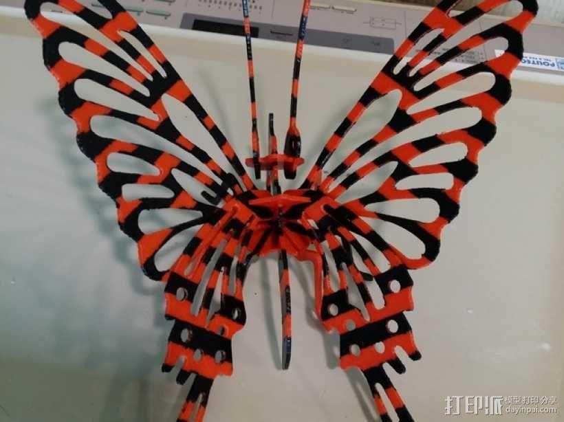 3D打印蝴蝶拼图 - 改良版 3D模型  图2
