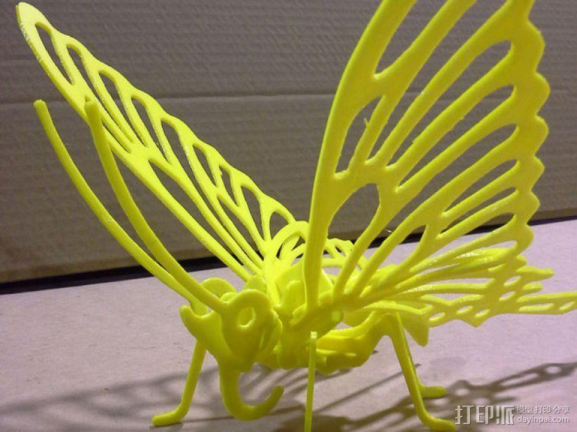 3D打印蝴蝶拼图 - 改良版 3D模型  图4