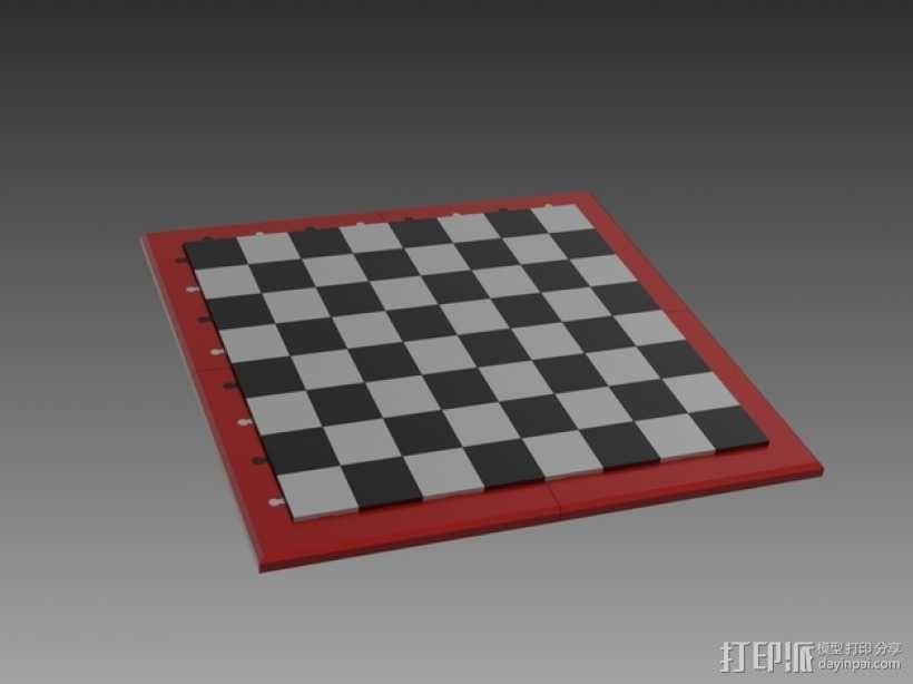 象棋棋盘 3D模型  图1