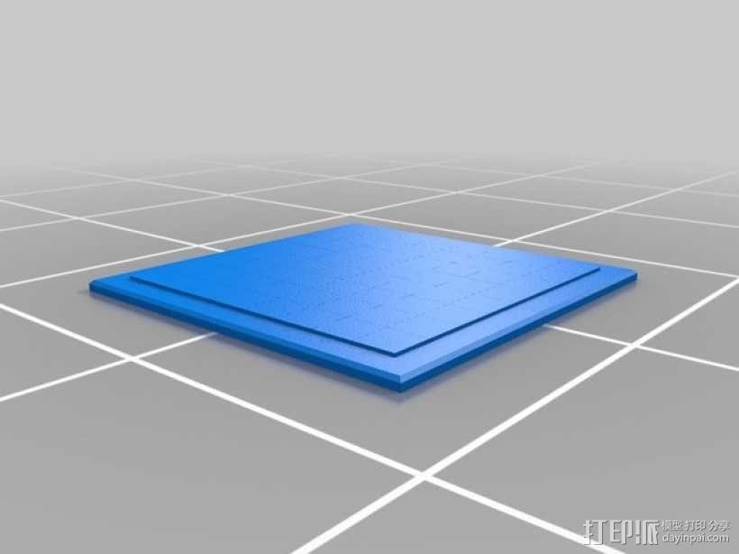 象棋棋盘 3D模型  图2