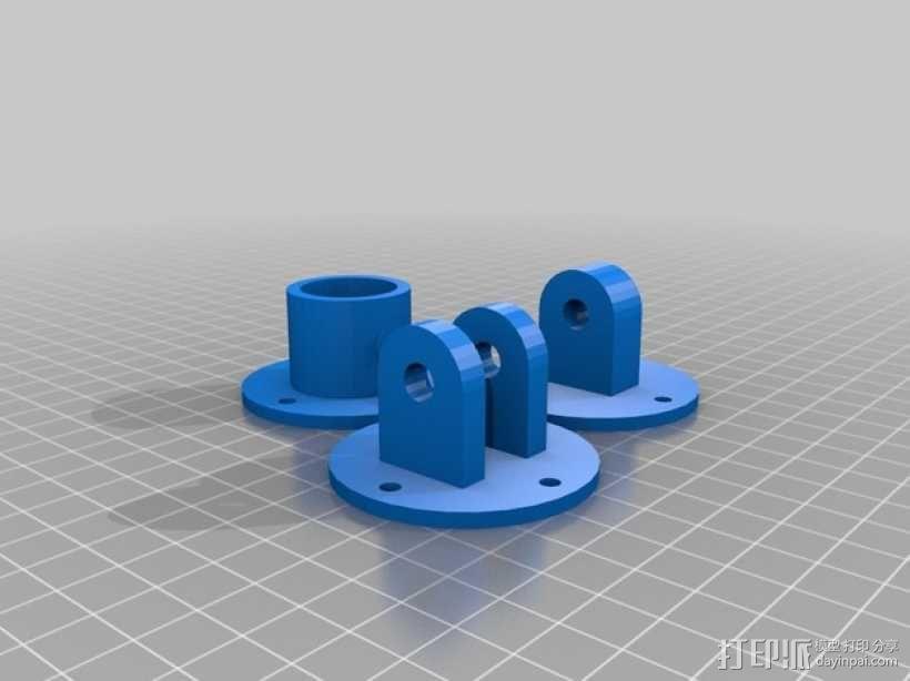 PVC水管连接器 3D模型  图3
