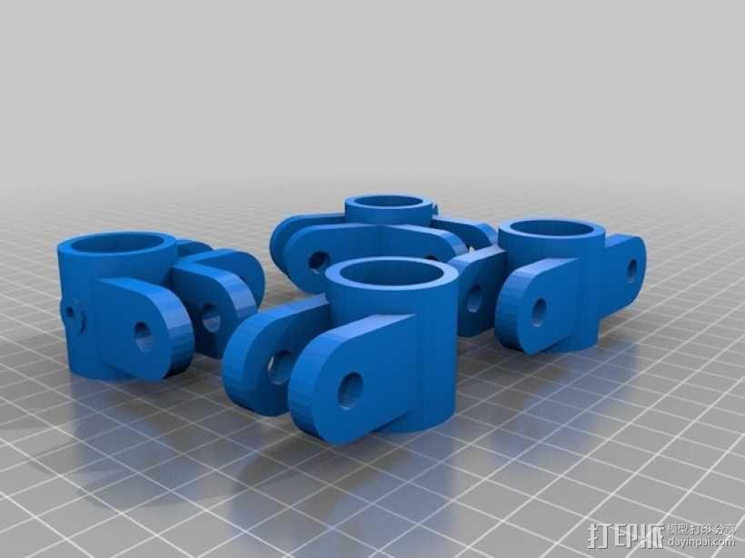 PVC水管连接器 3D模型  图4