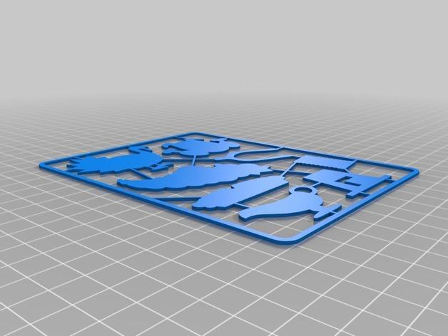 迷你餐具托盘 3D模型  图2