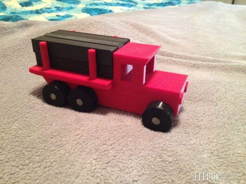 玩具测井工程车 3D模型  图1