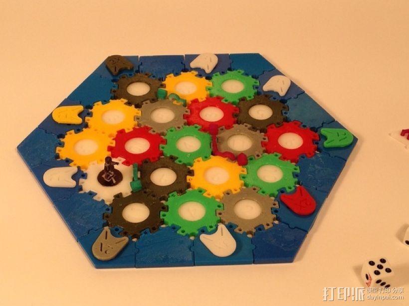 六边形桌游基地 3D模型  图1