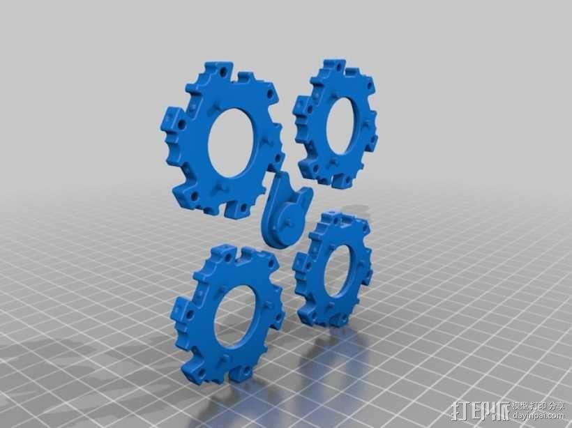 六边形桌游基地 3D模型  图4