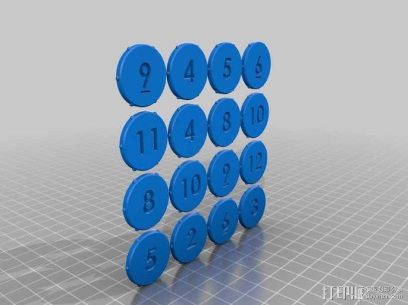 六边形桌游基地 3D模型  图5