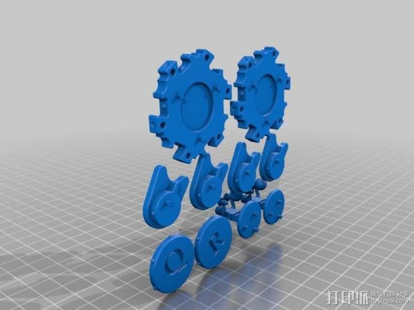 六边形桌游基地 3D模型  图6