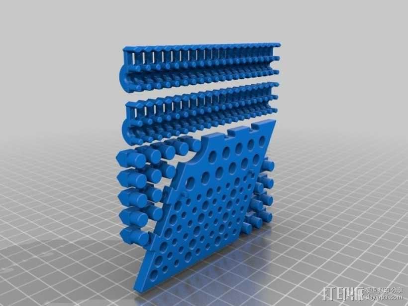六边形桌游基地 3D模型  图8