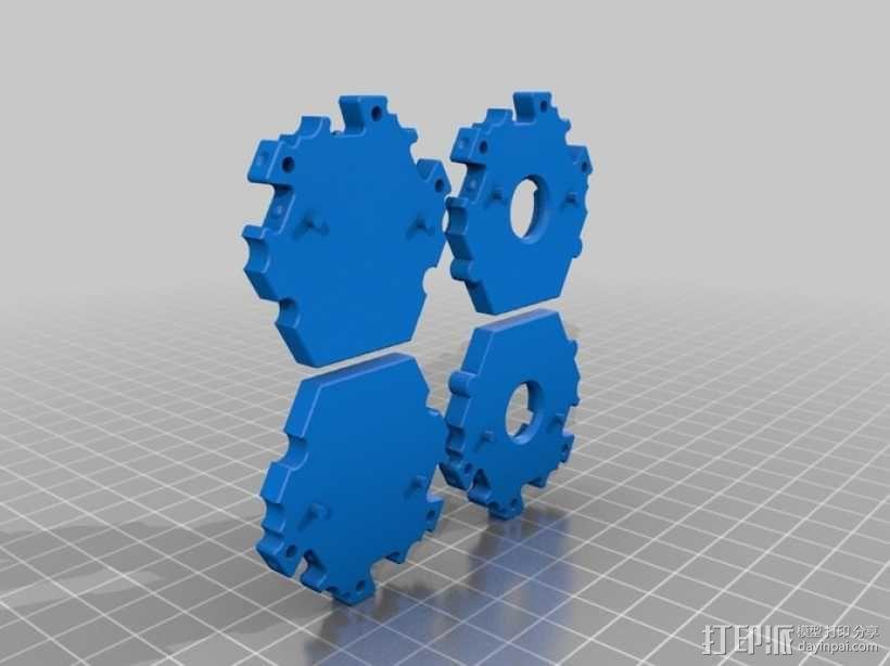 六边形桌游基地 3D模型  图9