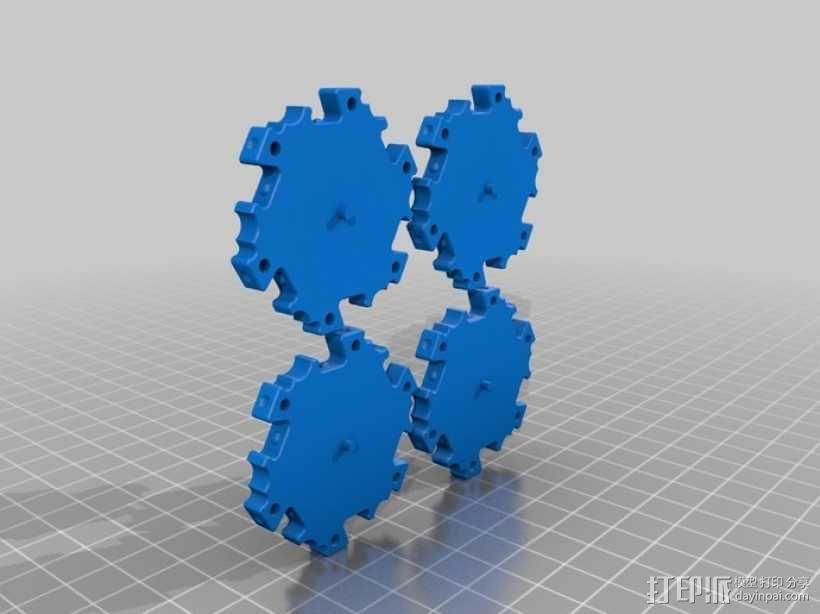 六边形桌游基地 3D模型  图10