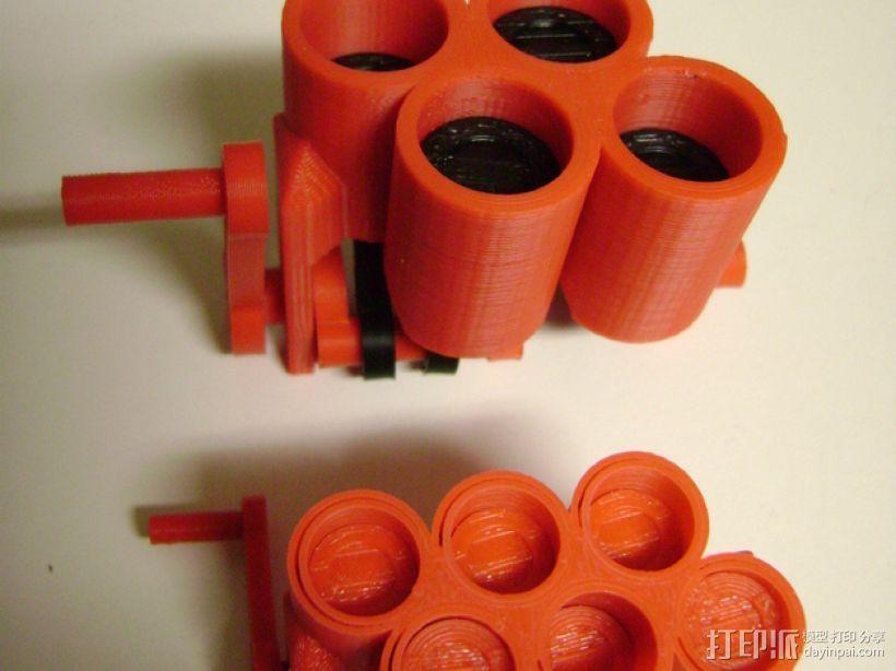 窄角V字形引擎 3D模型  图1