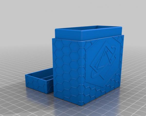 双色Netrunner收纳箱 3D模型  图2